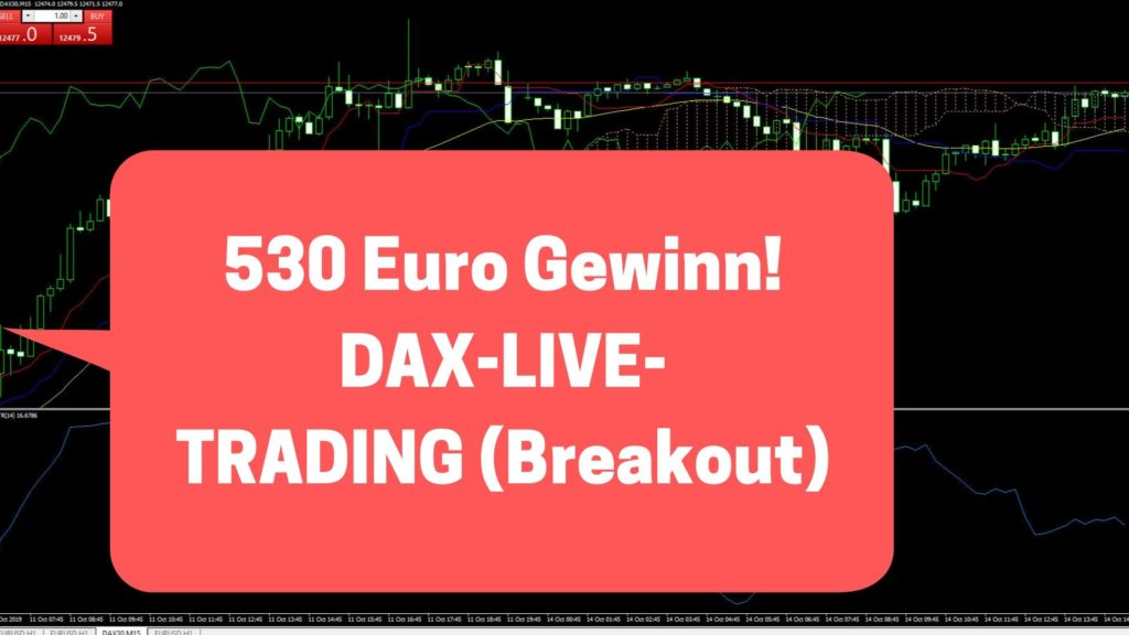 DAX Live-Trading 530+ Euro Gewinn