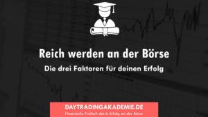 Reich werden an der Börse